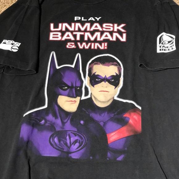 5b033fd8e5 Vintage Taco Bell Batman and Robin Shirt. Batman.  M_5c33d4dcc2e9fe39e858f8e7. M_5c33d4e5df0307a446289324.  M_5c33d4ec9fe4868b1d490067